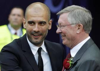 Ferguson, enamorado del fútbol del City de Pep Guardiola