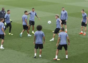 Zidane contó con todos en la sesión previa a la Champions