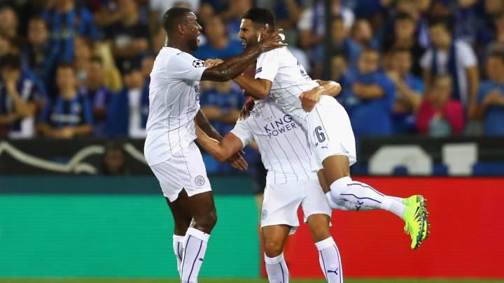 El Leicester debuta en Champions arrollando al Brujas