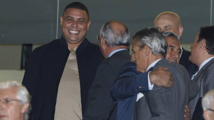Ronaldo estuvo presente en el palco del Santiago Bernabéu