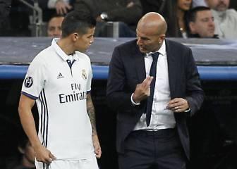 James cambia de actitud y ya convence a Zidane