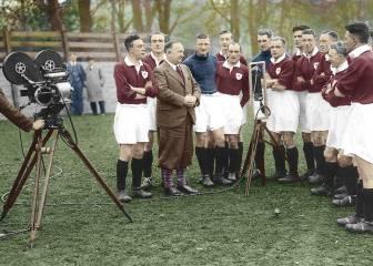 Primer fútbol en la tele: un entrenamiento del Arsenal (1937)