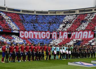 El Atlético juega su partido 1.200 en el Vicente Calderón