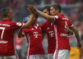 El Bayern firma pleno de triunfos y es líder en solitario