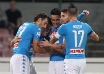 Milik y Callejón acuestan al Nápoles líder de Italia