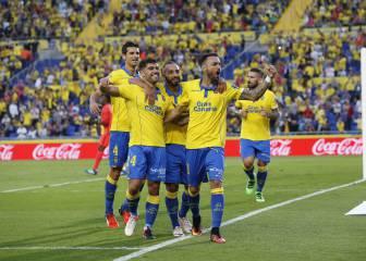 Las Palmas resiste ante el Málaga y sigue en lo alto