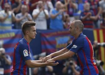 Butarque se suma a las ovaciones a Andrés Iniesta