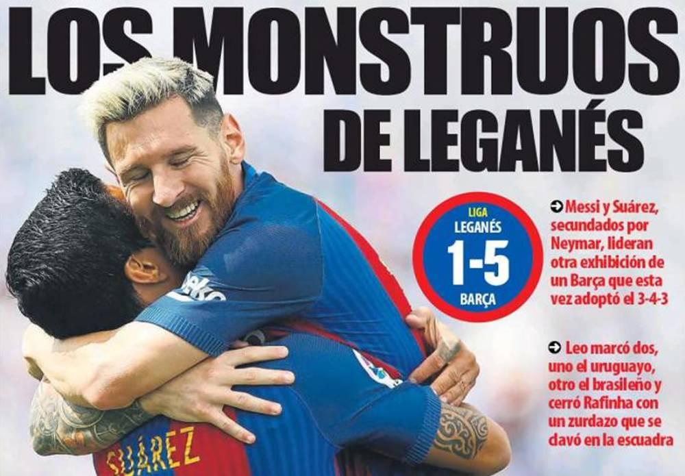La MSN se lució en el triunfo del Barcelona — Liga Santander