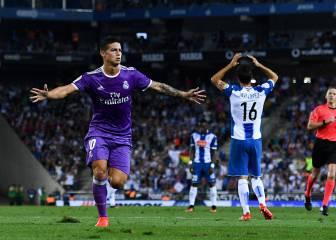 La resurrección de James: ya es el más rentable para Zidane