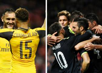 Dobletes de Cesc y Lucas Pérez para el Chelsea y Arsenal