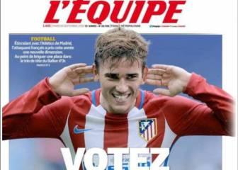 Griezmann hace autocampaña con la portada de L'Èquipe