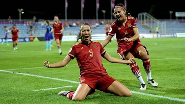 España golea a Ucrania y pasa como primera a la ronda élite