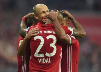 Robben vuelve y el Bayern golea al Hertha de Berlín