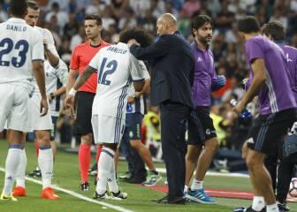 Marcelo se marchó lesionado en el minuto 42 de partido