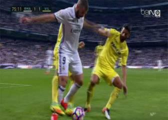 El Real Madrid reclamó dos penaltis en la segunda parte
