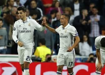 Lucas Vázquez y Morata ya aprietan a la BBC