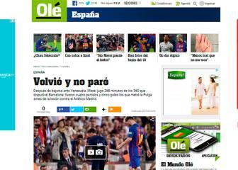 Argentina se cabrea porque Messi no descansó tras la lesión