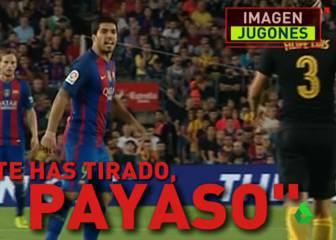 Luis Suárez insultó a Filipe tras el plantillazo: