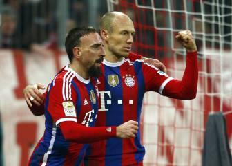 Robben y Ribery, pendientes para renovar por el Bayern
