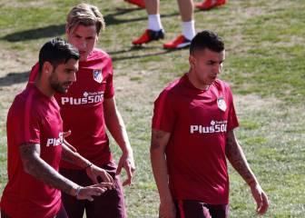 El Atlético sigue trabajando para la visita del Deportivo