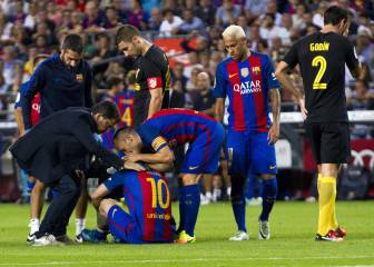 La lesión de Messi preocupa y deprime al barcelonismo