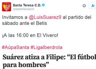 El fútbol no es sólo de hombres: un equipo femino se lo recuerda a Luis Suárez