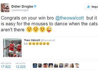 Drogba a Walcott: