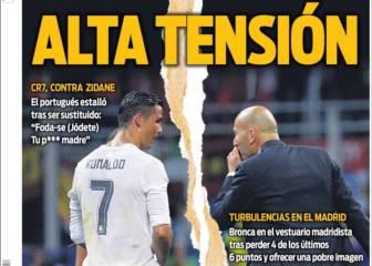 La prensa catalana saca punta al episodio Cristiano-Zidane