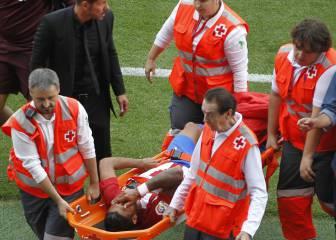 Los jugadores del Atlético se vuelcan con Augusto Fernández