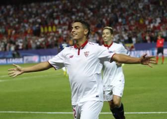 Sevilla-Lyon en imágenes