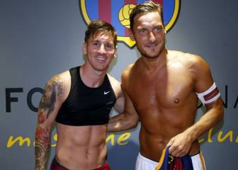 Leo Messi felicita a Francesco Totti por su 40 aniversario