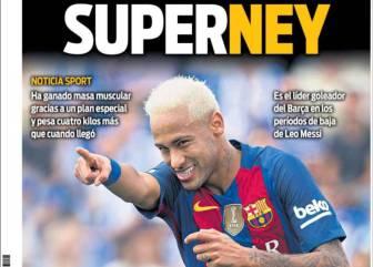 "Prensa catalana: ""SuperNeymar"" y Suárez talismán"