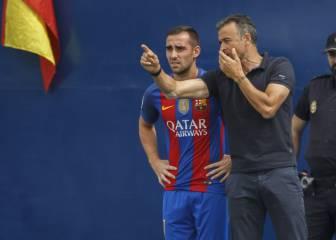 Alcácer, titular por sorpresa en el Barça ante el Gladbach