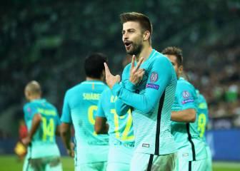 """Piqué: """"He visto al portero inseguro y he ido al rechace"""""""