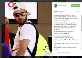 Benzema se acuerda de sus críticos en su Instagram