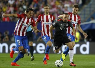 El Atlético corrió 8 kilómetros más que el Bayern y tiró más