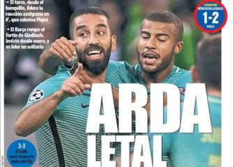 ¡Piquenbauer! y Arda letal: la prensa catalana, feliz por el 1-2