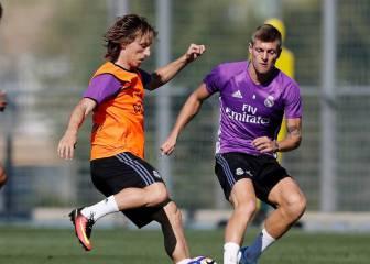 Modric y Morata entrenan con el grupo y están listos para el Eibar