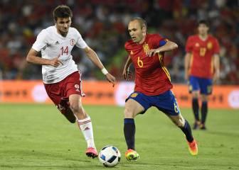 España recupera a Iniesta para las citas ante Italia y Albania