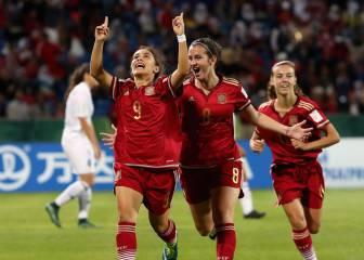 La Sub-17 debuta con goleada liderada por Lorena Navarro
