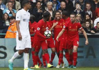 El Liverpool remonta al Swansea y sigue su buena racha