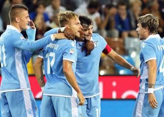 El Lazio golea 3-0 en Udine y es momentáneamente tercero