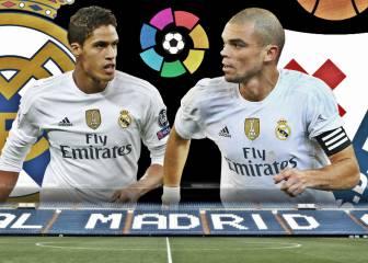 El Madrid con Pepe y Varane: 44 goles encajados en 40 partidos