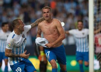 El Málaga remonta en un minuto y corta la racha del Athletic