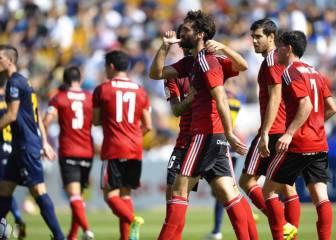 UCAM y Mirandés regalan fútbol y goles en La Condomina