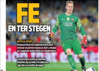 El futuro de Ter Stegen y el regreso de Messi, en portada