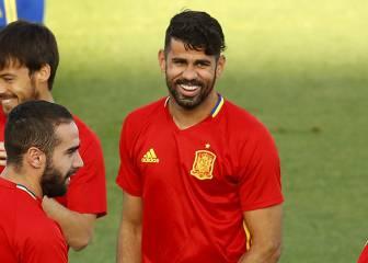 Diego Costa apunta a titular con Busquets-Koke de mediocentros