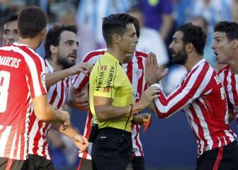 Balenziaga, baja para el derbi y ante el Madrid por sanción
