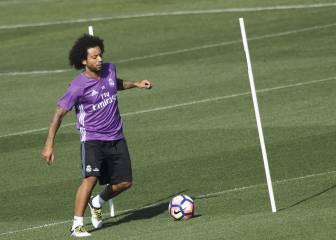 Marcelo y Benzema ya trabajan con el grupo