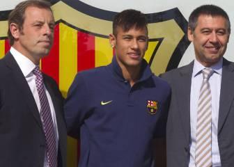 La Fiscalía pide procesar a Neymar, a su padre y a Rosell
